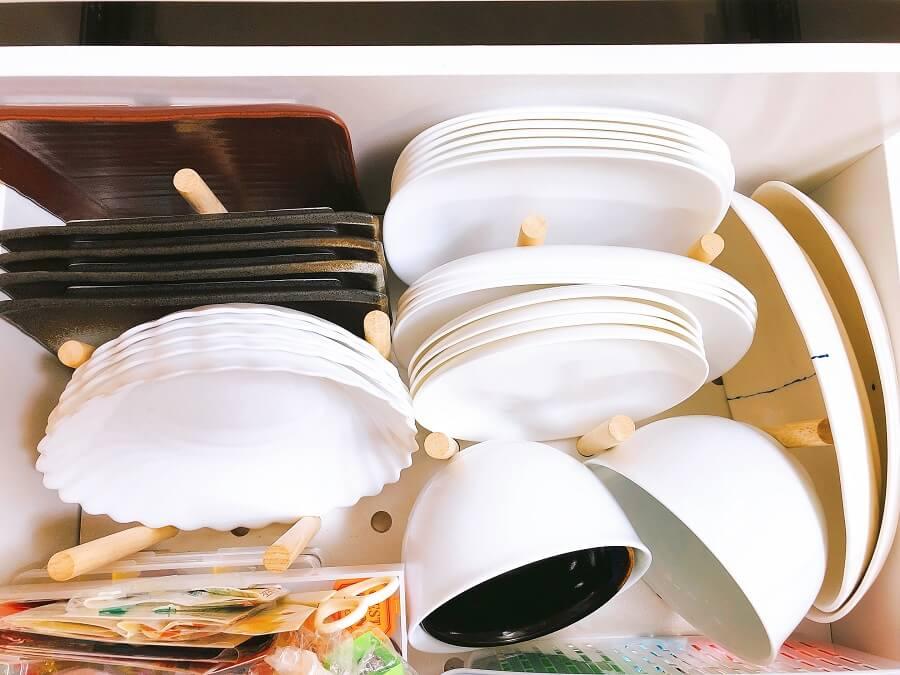 断捨離後食器の皿