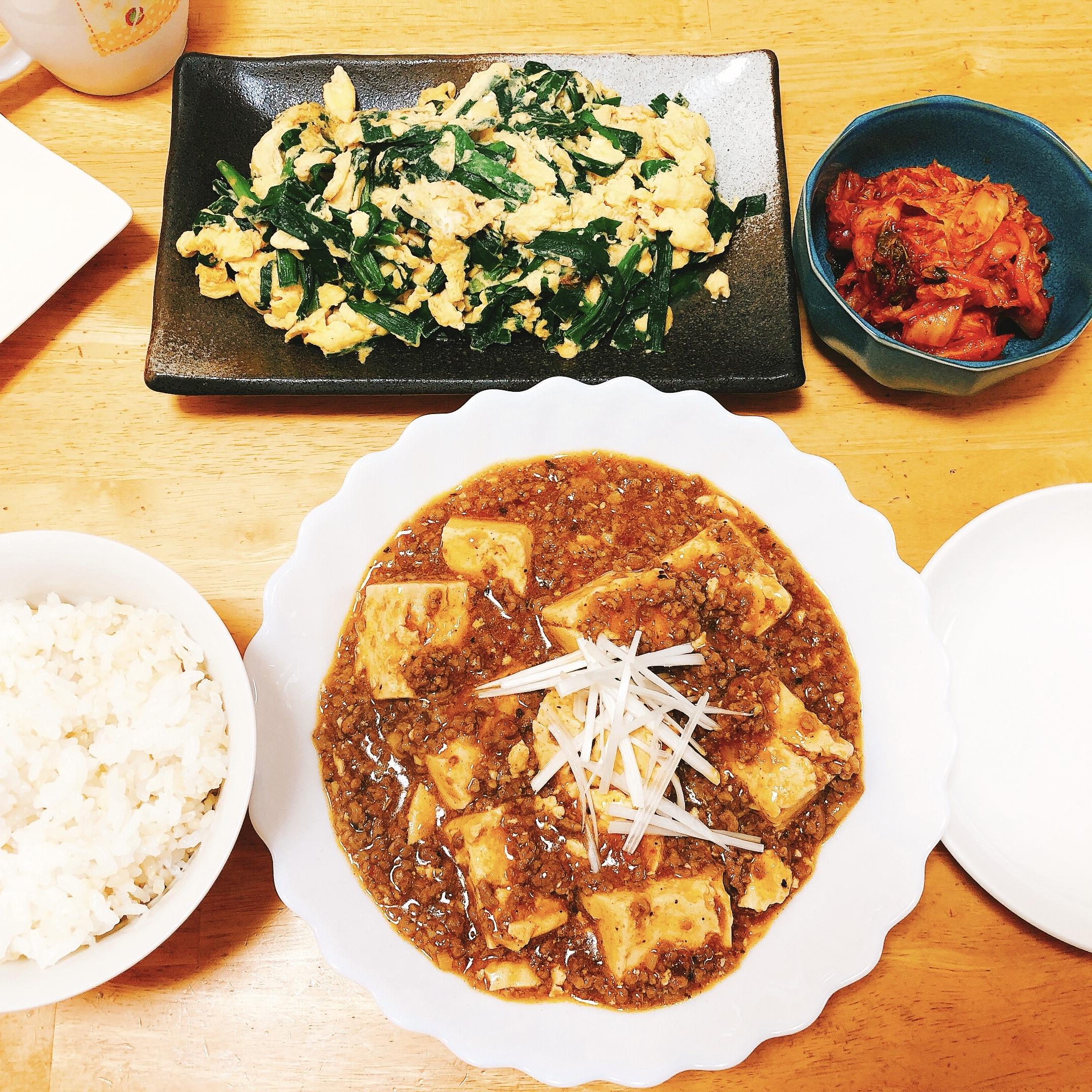麻婆豆腐の献立