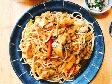 楽する夕食1週間献立、4日目。鶏肉ときのこのケチャップ煮アレンジレシピ