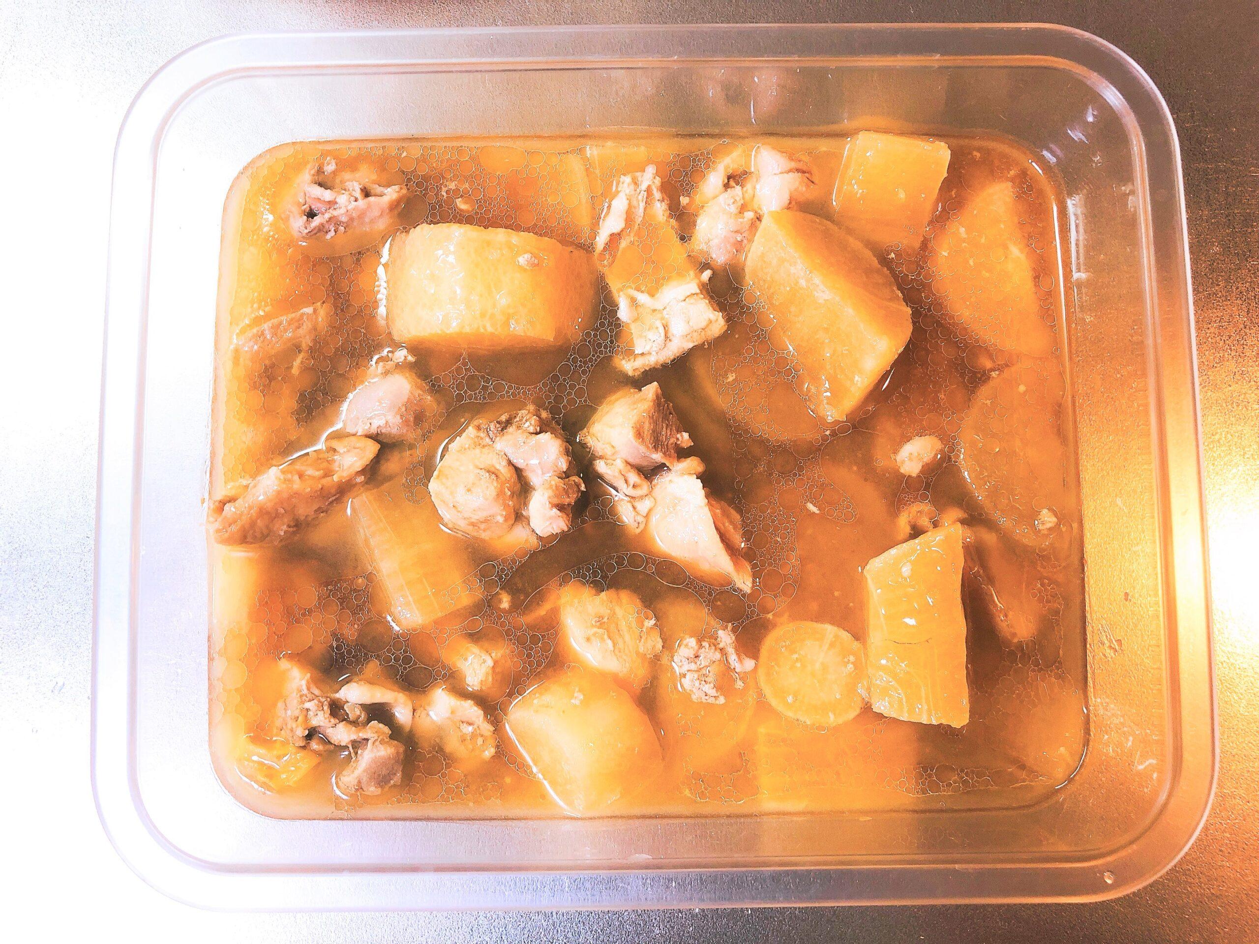 鶏肉と大根の煮物余り