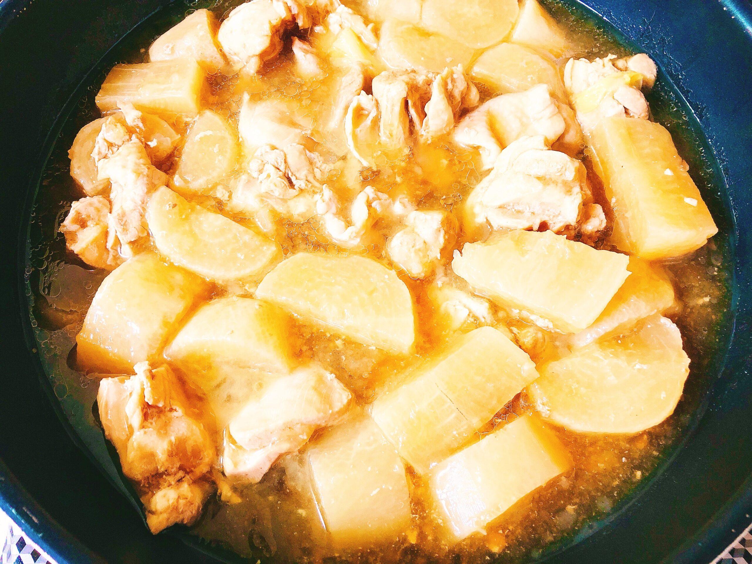 鶏肉と大根の煮物アレンジ中