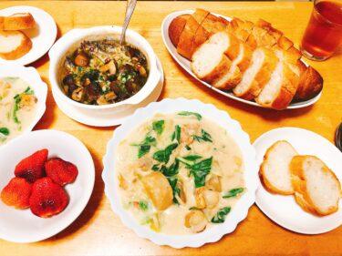 楽する昼・夕休日献立、6日目。ほうれん草とツナの簡単パスタレシピとえのきの使い方