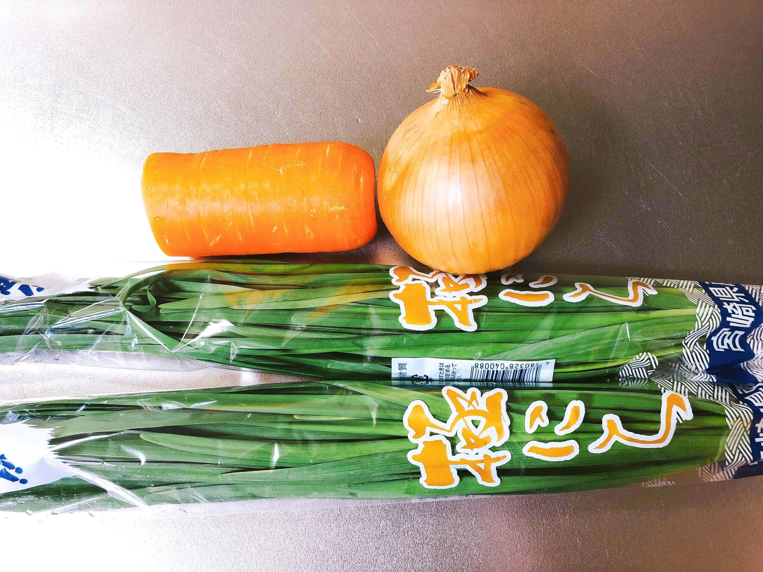 野菜チヂミ材料