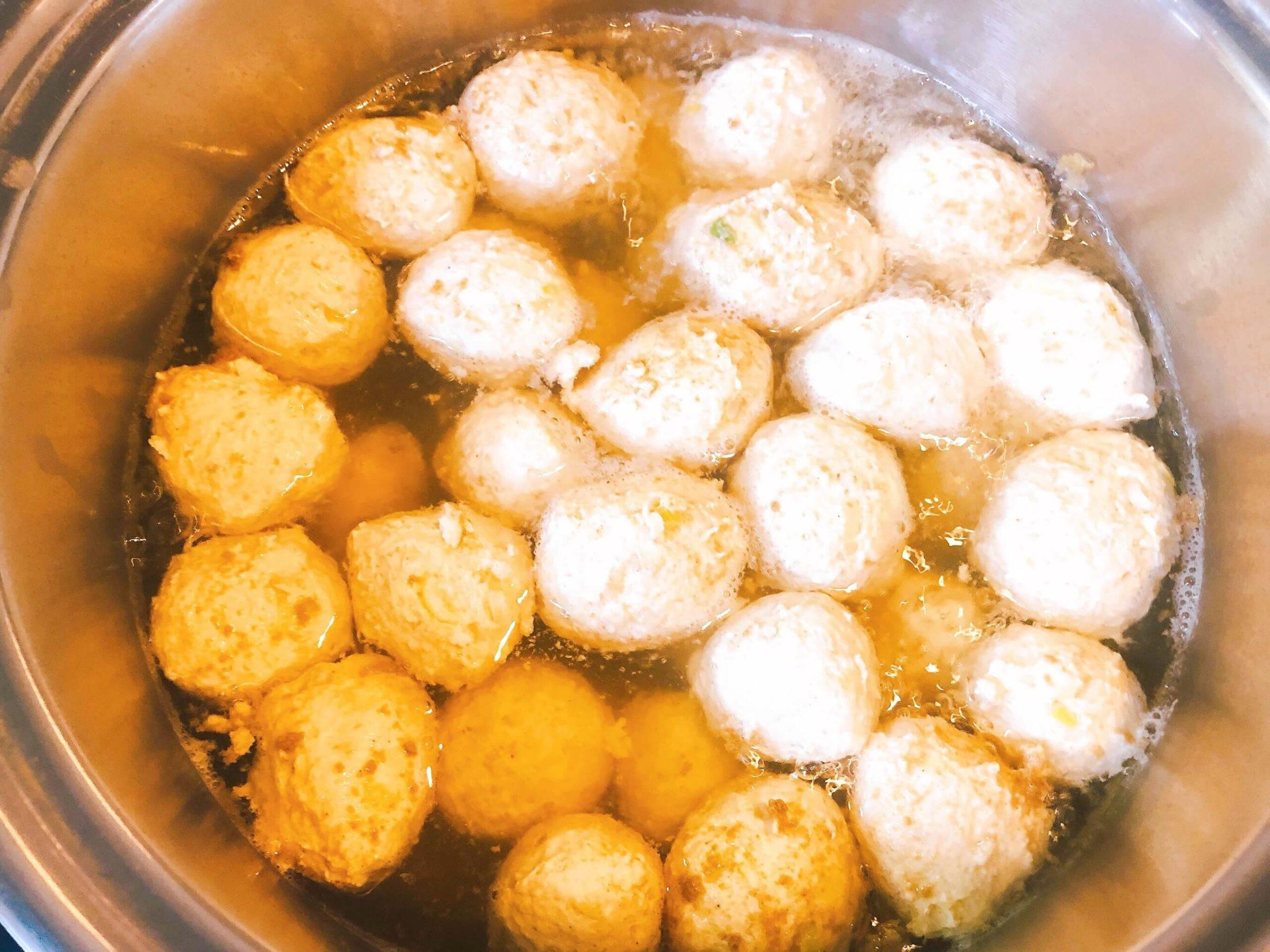 鶏団子と水菜の煮物調理6
