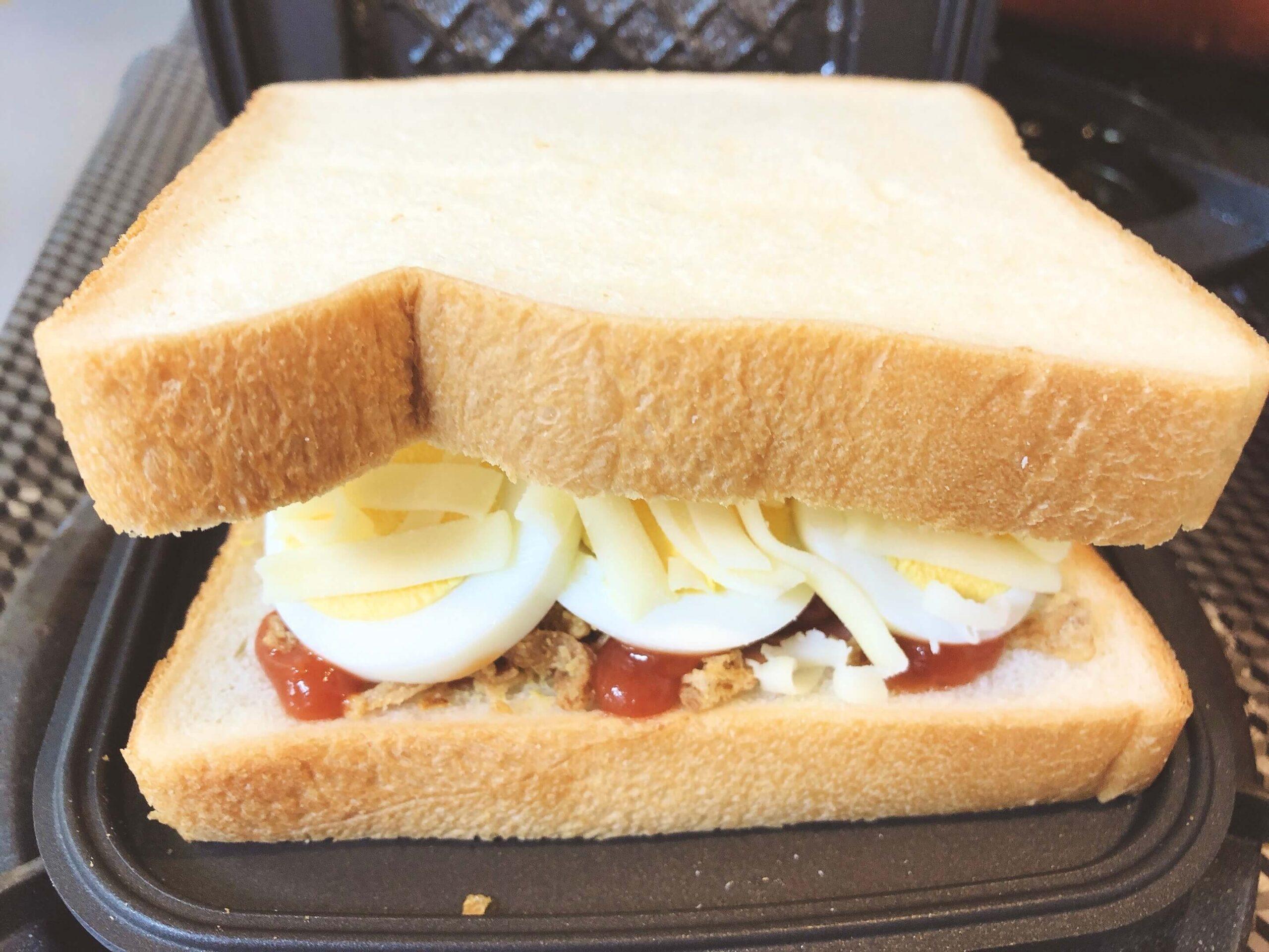 サンドイッチのホットサンド挟む