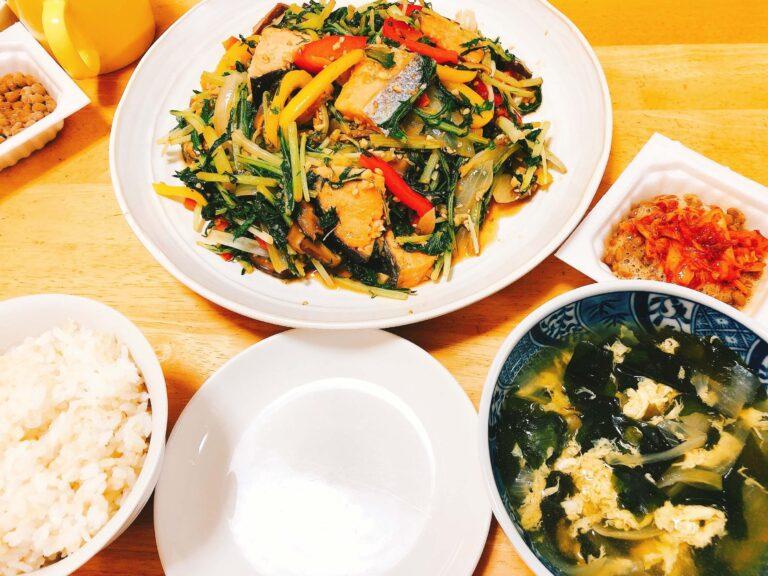 鮭と野菜のオイスター炒め献立