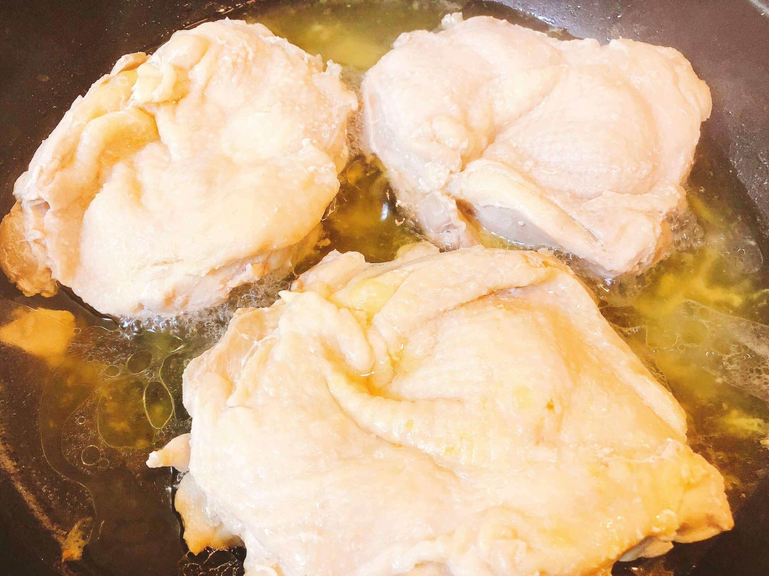 蒸し鶏のエスニック風サラダ仕立て、鶏肉調理する