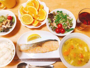 鮭のムニエルの夕食献立