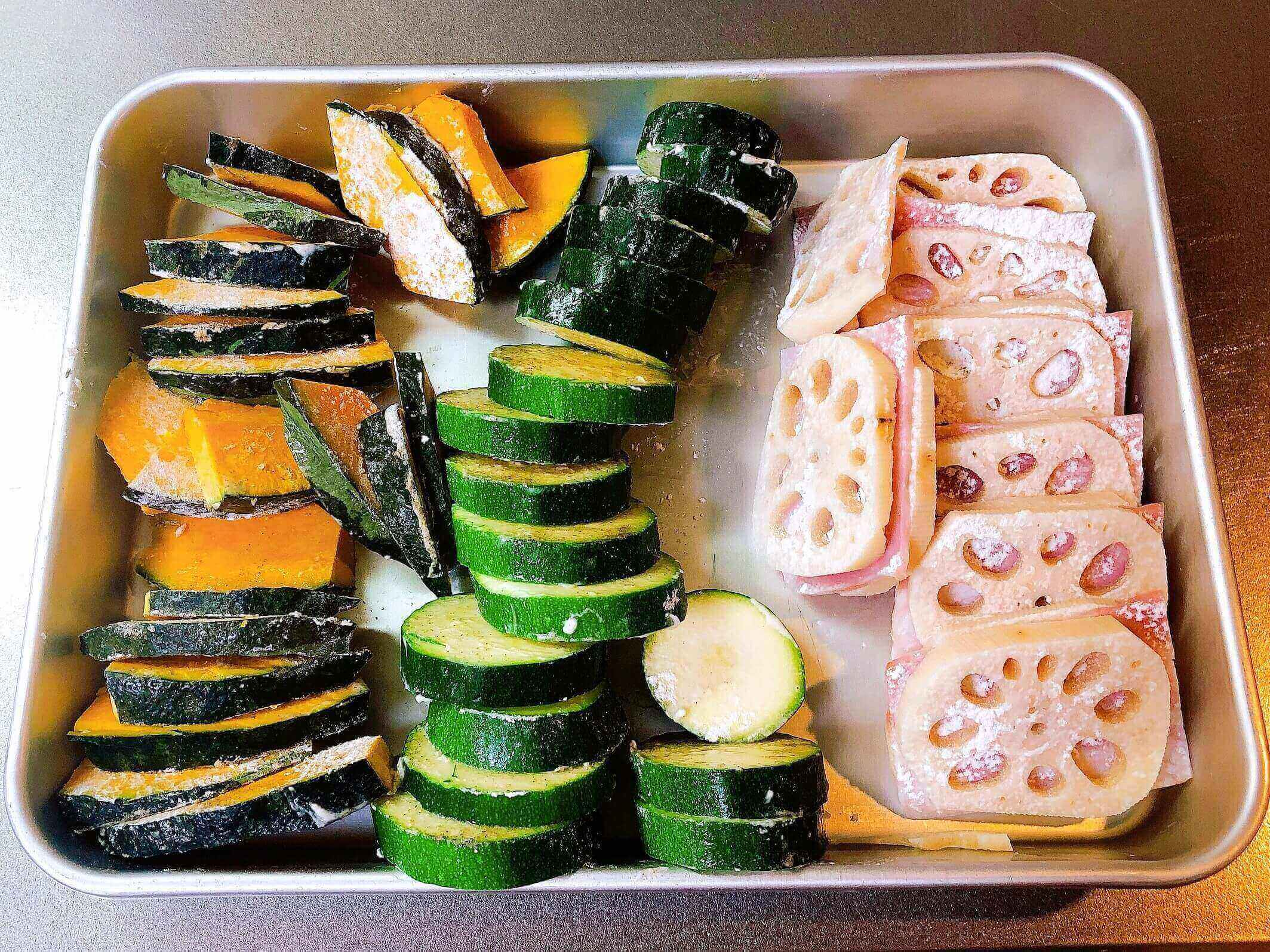 野菜のピカタ、準備OK