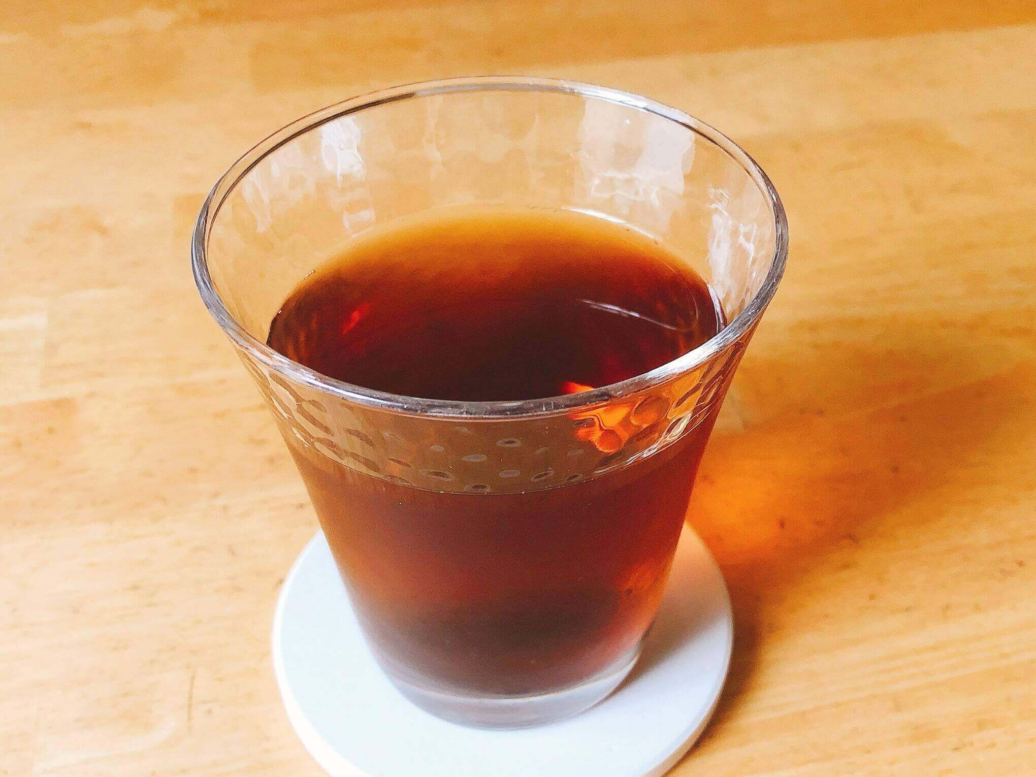 丸粒麦茶で入れた麦茶