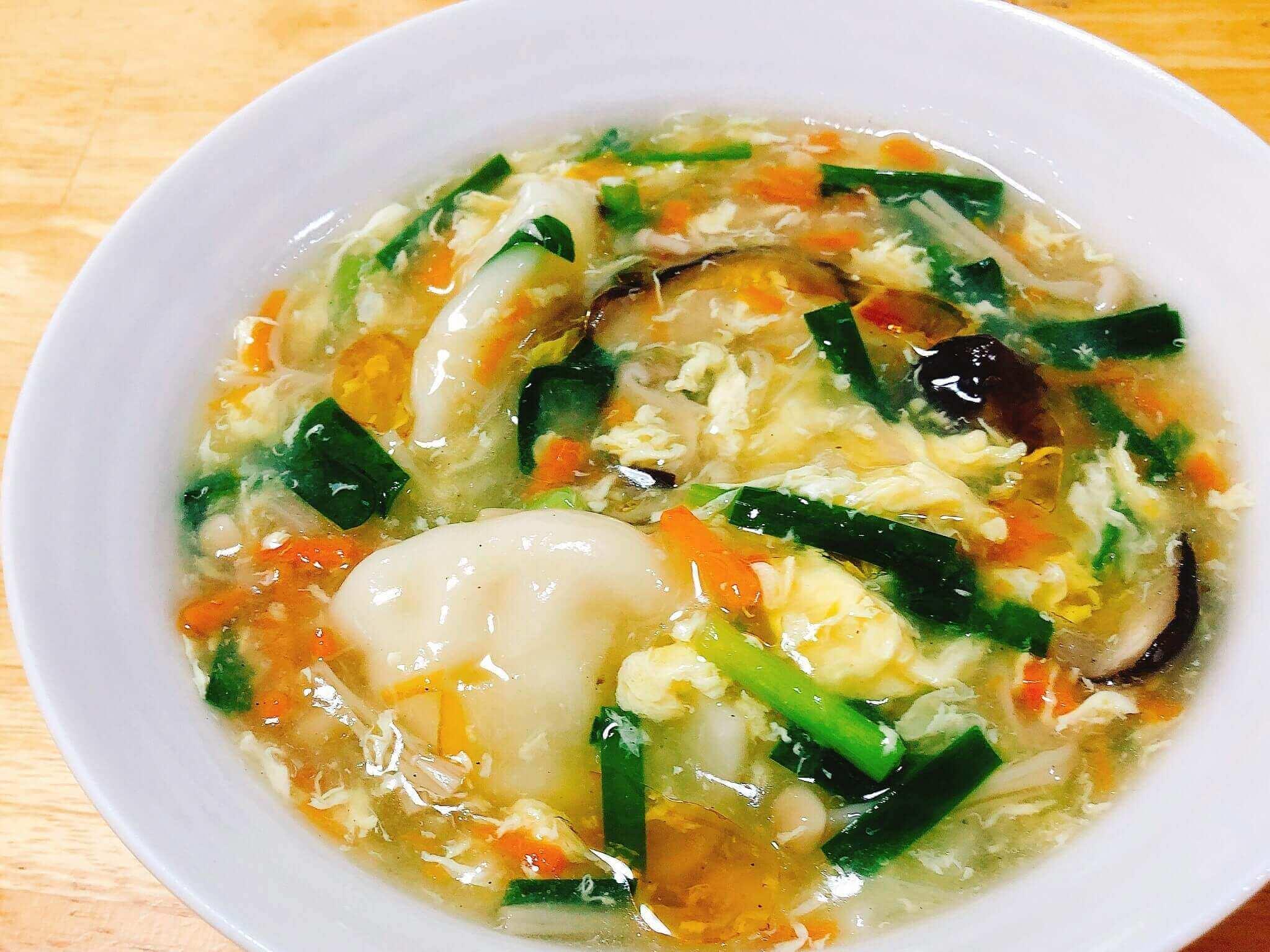 水餃子の中華スープ