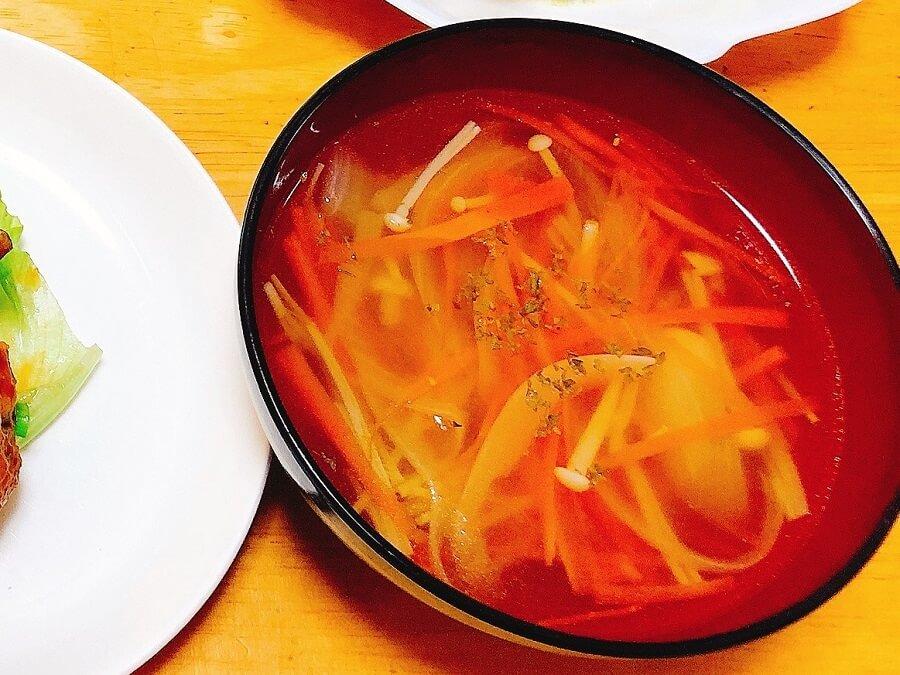 つくねに合うおかずスープ