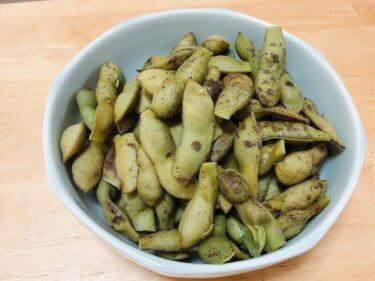 無限に食べてしまう位美味しすぎる、丹波の黒豆枝豆の塩茹で方法。